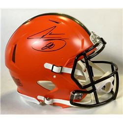 Jarvis Landry Signed Cleveland Browns Authentic On-Field Full-Size Speed Helmet (JSA COA)