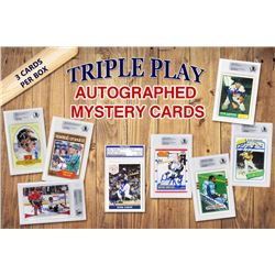 Triple Play Legends Autographed Sports Card Mystery Box - Series 1 (3 Signed  Encapsulated Cards In