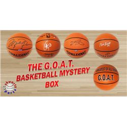 Schwartz Sports The G.O.A.T. Basketball Superstar Signed Basketball Mystery Box - Series 1 (Limited