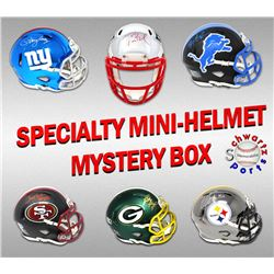 Football Superstar Signed Specialty Mini Helmet Mystery Box - Series 2 (Limited to 100) - (ALL MINI