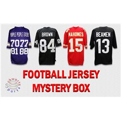 Schwartz Sports Football Superstar Signed Mystery Box Football Jersey  Series 18 - (Limited to 100)