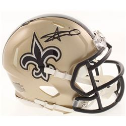 Alvin Kamara Signed New Orleans Saints Speed Mini Helmet (Radtke COA)