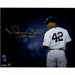 "Mariano Rivera Signed New York Yankees ""Stare Down"" 8x10 Photo Inscribed ""HOF 2019"" (Steiner COA)"