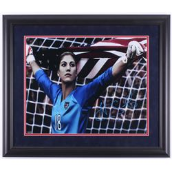 Hope Solo Signed USWNS 23x27 Custom Framed Photo Display (Schwartz COA)
