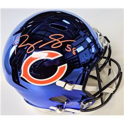 Roquan Smith Signed Chicago Bears Full-Size Chrome Speed Helmet (Beckett COA)