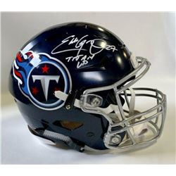 "Eddie George Signed Tennessee Titans Full-Size Authentic On-Field Speedflex Helmet Inscribed ""Titan"