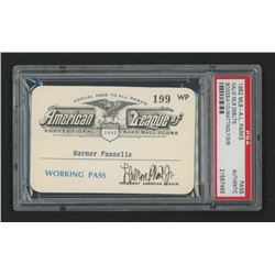 1982 Official American League Parks Working Pass (PSA Authentic)