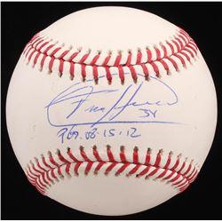 """Felix Hernandez Signed OML Baseball Inscribed """"PG 08-15-12"""" (JSA COA)"""