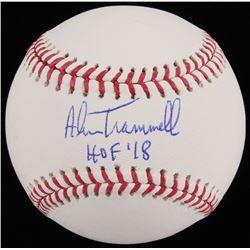 """Alan Trammell Signed OML Baseball Inscribed """"HOF '18"""" (JSA COA)"""