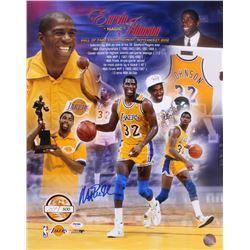 Magic Johnson Signed LE Los Angeles Lakers 16x20 Photo (PSA COA)