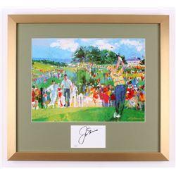 "Jack Nicklaus Signed ""Jack Nicklaus at Augusta"" 19.5x21.5 Custom Framed Cut Display (JSA COA)"