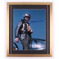 Ted Williams Signed 21x25 Custom Framed Photo Display (PSA LOA)