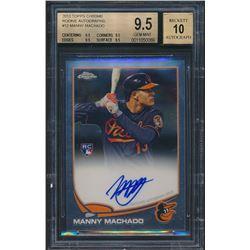2013 Topps Chrome Rookie Autographs #12 Manny Machado (BGS 9.5)