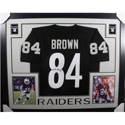 Antonio Brown Signed Oakland Raiders 35x43 Custom Framed Jersey (JSA COA)