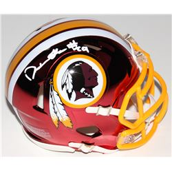 Derrius Guice Signed Washington Redskins Chrome Speed Mini Helmet (Radtke COA)