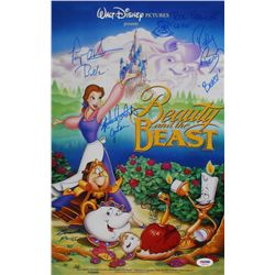 """Beauty and the Beast"" 11x17 Movie Poster Photo Cast-Signed by (6) with Paige O'Hara, Rick Farmiloe,"