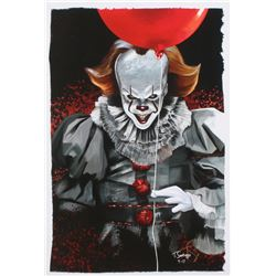 "Tony Santiago - Pennywise - ""IT"" 13x19 Signed Lithograph (PA COA)"