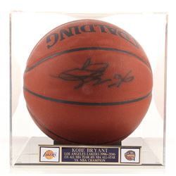 Kobe Bryant Signed NBA Basketball with High-Quality Display Case (PSA Hologram)