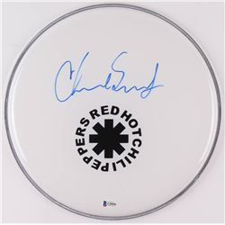 "Chad Smith Signed Red Hot Chili Peppers 12.5"" Drum Head (Beckett COA)"