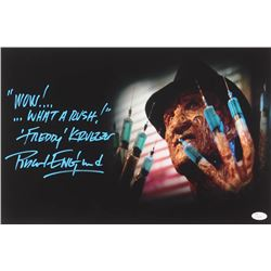 "Robert Englund Signed ""Nightmare on Elm Street"" 12x18 Photo Inscribed ""Wow!...What a Rush!""  ""Freddy"