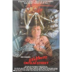 """A Nightmare on Elm Street"" 24x36 Poster Signed by (4) Including Robert Englund, Heather Langenkamp,"