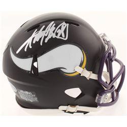 Adrian Peterson Signed Minnesota Vikings Matte Black Mini Speed Helmet (Beckett COA)