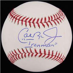 """Cal Ripken Jr. Signed OML Baseball Inscribed """"Ironman"""" (JSA COA)"""