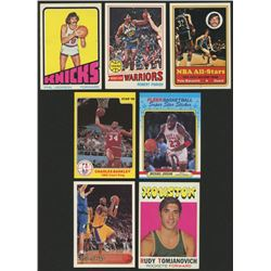 Lot of (7) Basketball Cards With 1996-97 Topps #138 Kobe Bryant RC, 1986 Star Court Kings #3 Charles