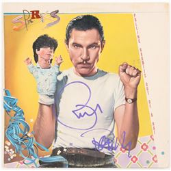 "Ron Mael  Russell Mael Signed ""Pulling Rabbits Out Of A Hat"" Vinyl Record Album Cover (JSA COA)"