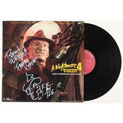 "Robert Englund Signed ""A Nightmare On Elm Street 4: The Dream Master"" Vinyl Record Album Inscribed"""