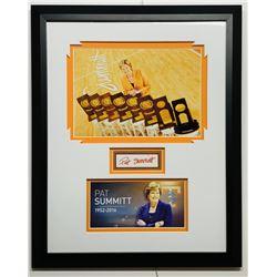 Pat Summit Signed Tennessee Volunteers 16x20 Custom Framed Display (JSA COA)