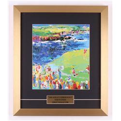 "Tom Watson ""The 16th at Cypress Point"" 15.5x18 Custom Framed Print Display"