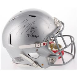 """Joey Bosa Signed Ohio State Buckeyes Full-Size Authentic On-Field Speed Helmet Inscribed """"14 Champs"""""""