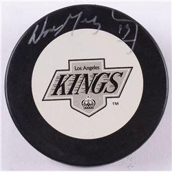 Wayne Gretzky Signed Los Angeles Kings Logo Hockey Puck (JSA COA  Gretzky Hologram)
