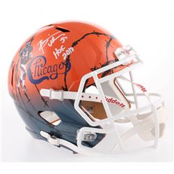 "Brian Urlacher Signed Chicago Bears Full-Size Hydro Dipped Speed Helmet Inscribed ""HOF 2018"" (Becket"