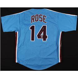 "Pete Rose Signed Philadelphia Phillies ""Hit King"" Jersey (Fiterman Sports Hologram)"