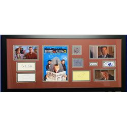 Home Alone 2: Lost in New York Cast-Signed 21x39 Custom Framed Display with (7) Signatures Including
