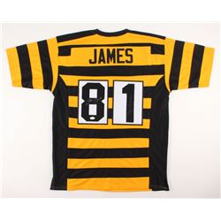 """Jesse James Signed Pittsburgh Steelers Throwback Jersey Inscribed """"The Outlaw"""" (JSA COA)"""