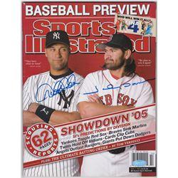 Derek Jeter  Johnny Damon Signed 2005 Sports Illustrated Magazine (Steiner COA)