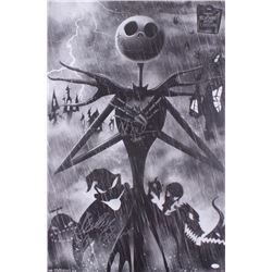 """Chris Sarandon  Ken Page Signed """"The Nightmare Before Christmas"""" 22.5x34 Poster Inscribed """"Jack""""  """"O"""
