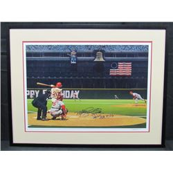"Mike Schmidt Signed Philadelphia Phillies 22x30 Custom Framed Lithograph Display Inscribed ""548 HR"""