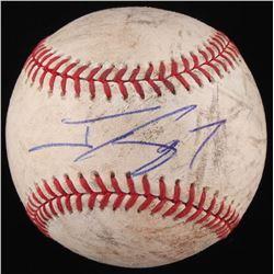 Jonny Gomes Signed OML Baseball (JSA COA)