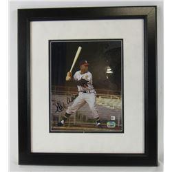 Hank Aaron Signed Milwaukee Braves 8x10 Custom Framed Photo Display (Fanatics Hologram)