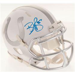 Reggie Wayne Signed Indianapolis Colts White Ice Speed Mini Helmet (Beckett COA)
