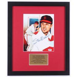 Stan Musial Signed St. Louis Cardinals 16x19 Custom Framed Photo (PSA COA)