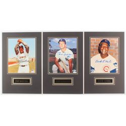 Lot of (3) Signed 11x17 Custom Matted Photo Displays with Buck O'Neil, Juan Marichal,  Bobby Richard