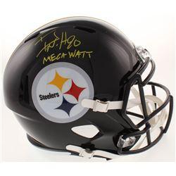 "T.J. Watt Signed Pittsburgh Steelers Speed Full-Size Helmet Inscribed ""Mega Watt"" (JSA COA)"