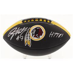 """Dwayne Haskins Signed Washington Redskins Logo Football Inscribed """"HTTR!"""" (JSA COA)"""