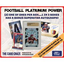 "The Card Craze ""Football Platinum Power"" Series 1 Mystery Box"