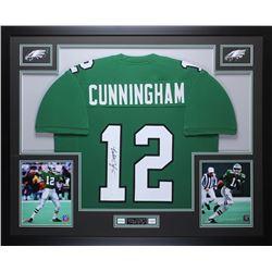 Randall Cunningham Signed Philadelphia Eagles 35x43 Custom Framed Jersey (JSA COA)